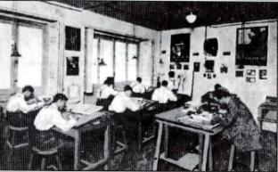 Así era el estudio artístico de Publicitas – Helios en 1920 -30